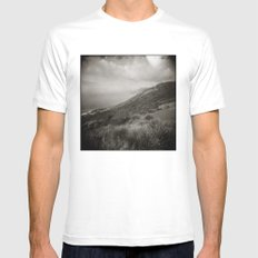 { World's End } Mens Fitted Tee MEDIUM White