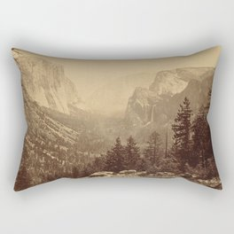 Yosemite Valley from Inspiration Point Rectangular Pillow