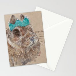 Chester bunny and his crown Stationery Cards