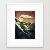 storm Framed Art Prints featuring Moby Dick by Rachael Shankman