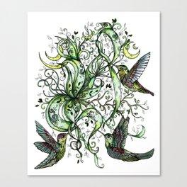 Hummingbird Garden Party Canvas Print