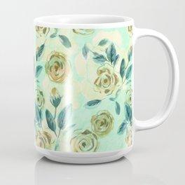 Watercolor vintage pattern. Pale roses. Coffee Mug