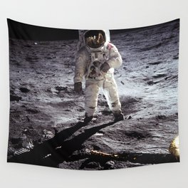 Apollo 11 - Iconic Buzz Aldrin On The Moon Wall Tapestry