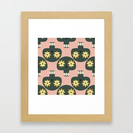 Funny pattern with cute skulls Framed Art Print