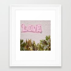 Love Sign Framed Art Print