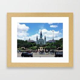 New Orleans - Jackson Square Framed Art Print