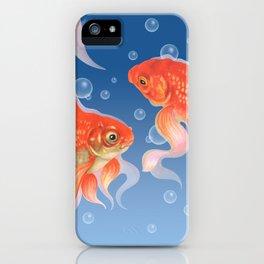 Goldfish Dabi blue dream iPhone Case