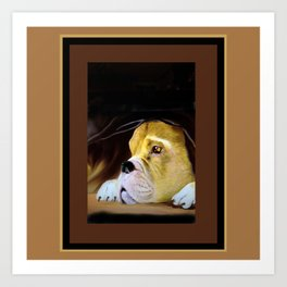 Boxer Thinking Things Over Art Print
