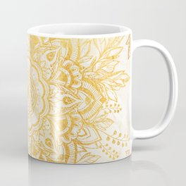 Queen Starring of Mandala-Gold Sunflower I Coffee Mug
