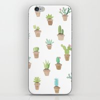 cacti iPhone & iPod Skins featuring Cacti by Yardia