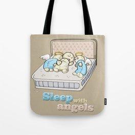 Sleep with angels Tote Bag
