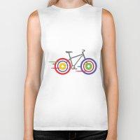bike Biker Tanks featuring Bike! by Alice Wieckowska