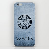 airbender iPhone & iPod Skins featuring Avatar Last Airbender - Water by bdubzgear