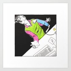 Ability to punch people through phones Art Print