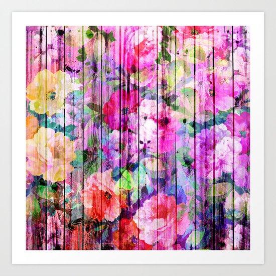 Flowers in the Wood Art Print