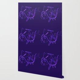 Kandinsky - Purple Abstract Art Wallpaper