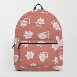 Terra Cotta Botanical Floral Pattern Backpack