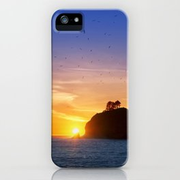 Sunset at First Beach - La Push .3 iPhone Case