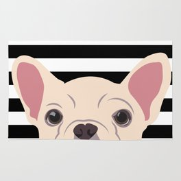 Peeking Frenchie Rug