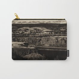 Black and White Landscape in Sepia Tone Carry-All Pouch