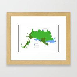 Anzac Map III Framed Art Print