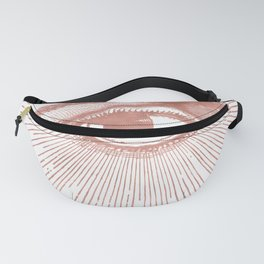 I see you. Rose Gold Pink Quartz on White Fanny Pack