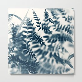 Royal Palm In Blue #2 Metal Print