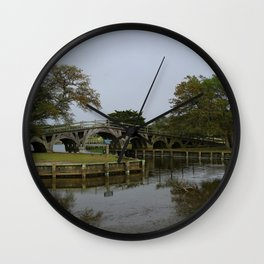 Historic Wooden Bridge At Currituck Light Station Wall Clock