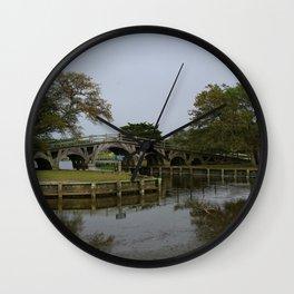 Historic Wooden Bridge At Currituck Light Station Wall Clock