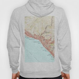 Vintage Map of Laguna Beach California (1965) Hoody