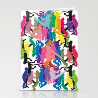 it crowd Stationery Cards featuring Crowd by Emmanuelle Ly