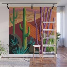 Cactus on Mountaintop Wall Mural