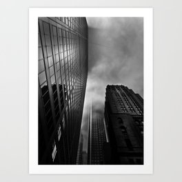 Downtown Toronto Fogfest No 4 Art Print