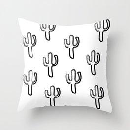 Marker Cactus Pattern Throw Pillow