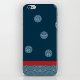 MEDIEVAL WEIMARANER WITH RED STRIPE iPhone Skin