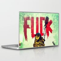 writing Laptop & iPad Skins featuring Writing Fuck by Mauricio Santana
