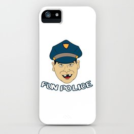Fun Police For Police T-shirt Design Emergency Detective Force Law Enforcement Crime Gun Defense iPhone Case