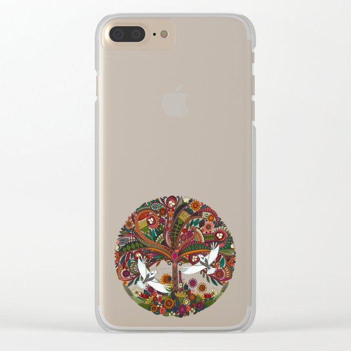 tree of life black Clear iPhone Case