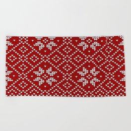 Christmas Snowflake Wool Pattern Beach Towel