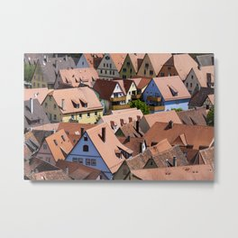 Roofs urban scene Metal Print