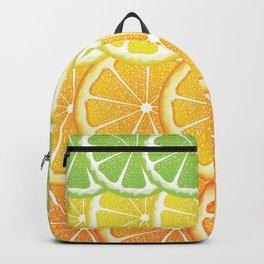 Grapefruit, lemon, orange and lime slices Backpack