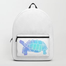 Sulcata Tortoise Silhouette (watercolor canvas) Backpack