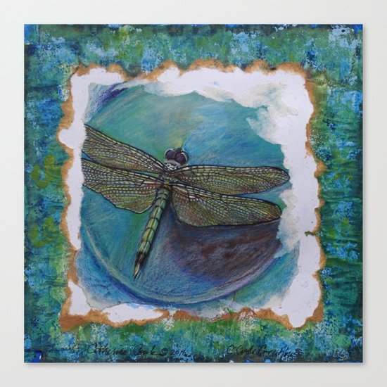Dragon Fly Original Art By Catherine Coyle Canvas Print