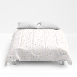 Hand drawn tiny confetti sprinkles . Seamless repeat pattern Comforters