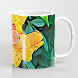 Orange Flowers of Flowing Circuitry Coffee Mug