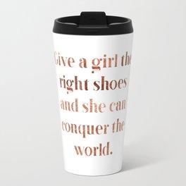 Rose gold shoe love Travel Mug