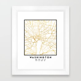 WASHINGTON D.C. DISTRICT OF COLUMBIA CITY STREET MAP ART Framed Art Print