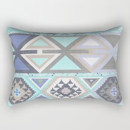 Aztec Artisan Tribal in Mint Rectangular Pillow