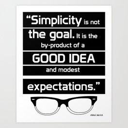 Typography poster Art Print
