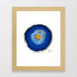 Agate Blue  Framed Art Print